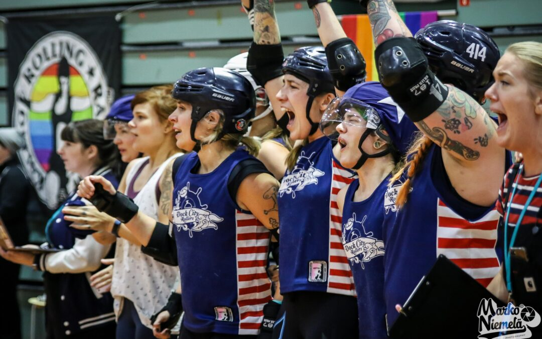 Dock City Rollers win the WFTDA European Continental Cup!